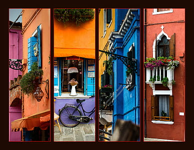 four assorted open windows photo