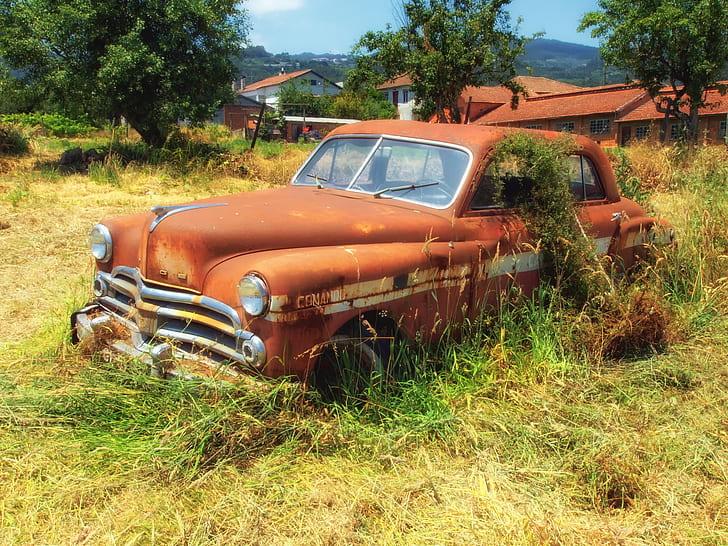 abandoned classic vehicle