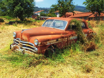 abandoned classic vehicle