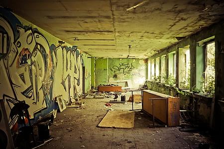 ruin concrete room