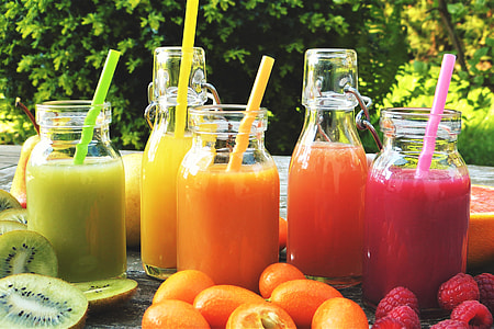 Healthy fruit smoothies juice