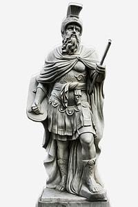 male gladiator statue