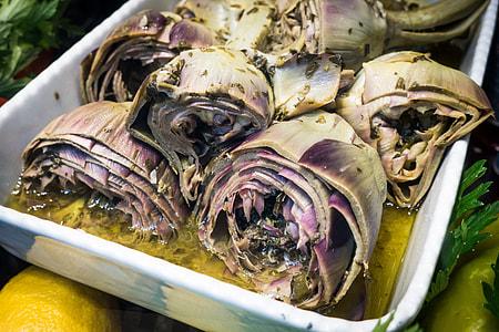 Marinated artichokes