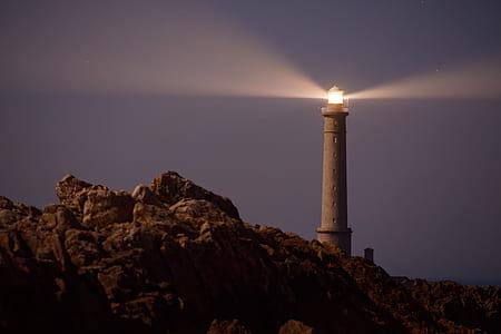 turned on lighthouse