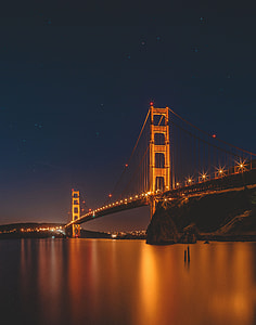 Golden Gate Bridge during night time