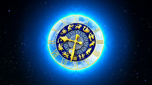 zodiac sign clock