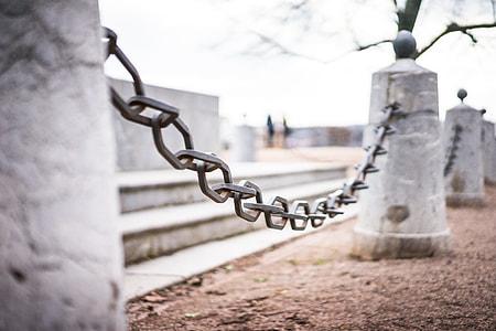 Iron Chain Around Historic Monument