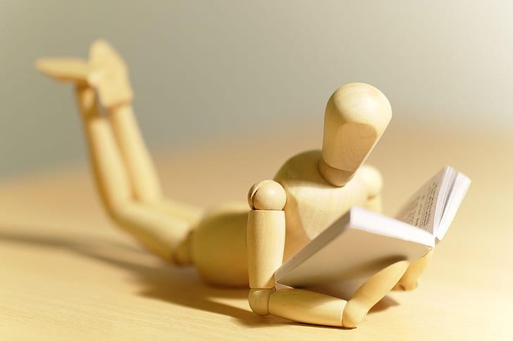 reading marionette figurine