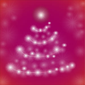 white and purple Christmas tree illustration