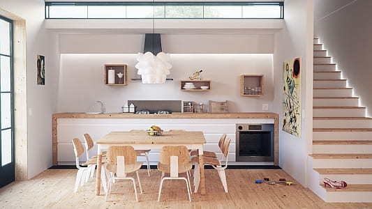 photo displays dining room