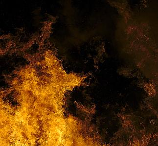 yellow and black flame digital wallpaper