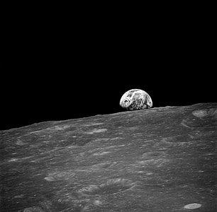 photo of earth from moon