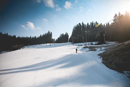 Ski Slope with Sunny Weather