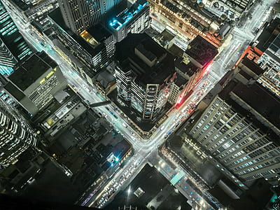 bird eye photography of cityscape
