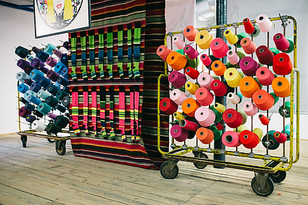 Big colorful Spool of Thread Sewing