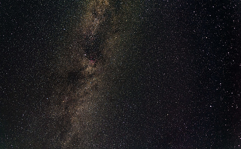 photograph of stars during night