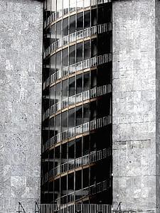Gray Concrete Glass Building