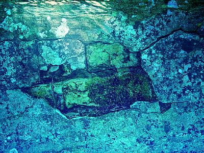 underwater, water, wall, mysticism