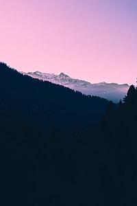 panoramic photo of mountain alps