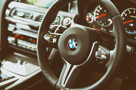 Interior shot of the BMW M6, image captured at the Goodwood