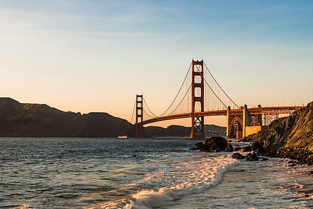 Golden Bridge photo during daytime
