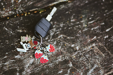 key ring with strawberries