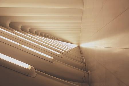 hallway with lights