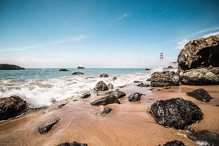 Baker Beach with Golden Gate Bridge, San Francisco, California