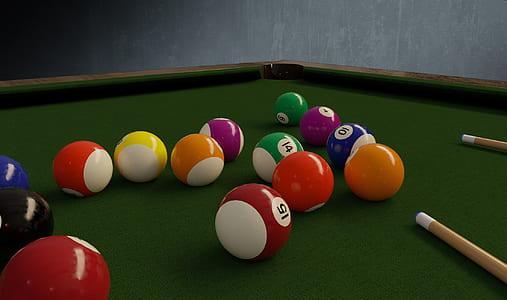 pool ball on table