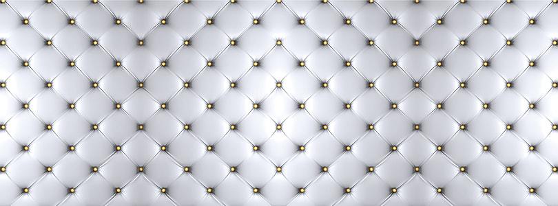 tufted white textile