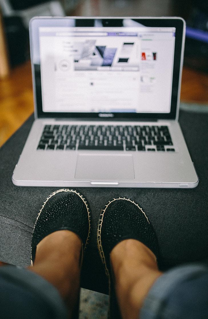 Closeup view of Macbook Keyboard