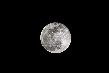 selective focus of full moon
