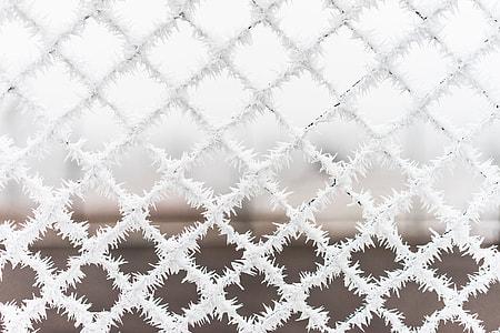Bitter Cold Hoarfrost vs. Steel Fence