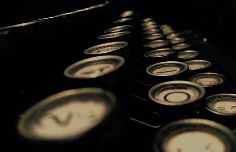 typewriter, illustration, vintage, hipster, retro, letter