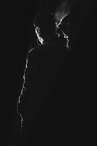 people, men, dark, silhouette