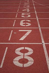 track & field starting line