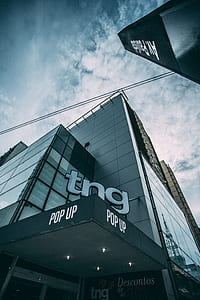Tn Pop Up Building during Cloudy Sky