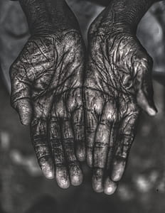 palm, hands, dirty, hand