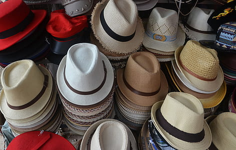 photo of assorted-color hat lot