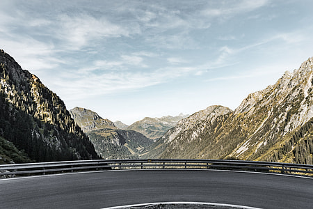 Mountain Road With Panorama Scenery View