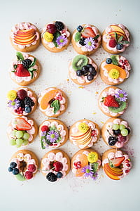 fruit topping biscuits