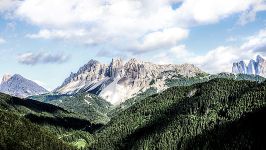 mountain alps under clouds