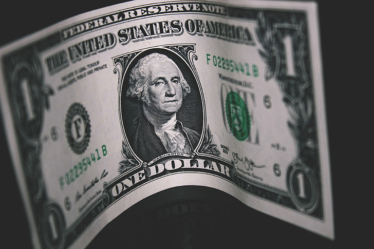 Cash bank note of dollar bill