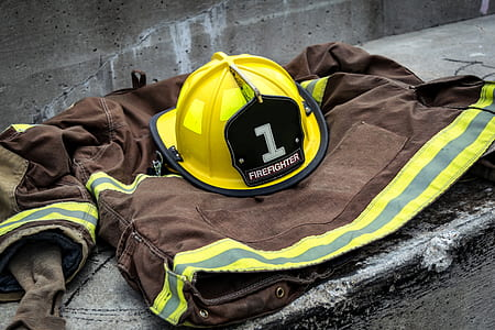 firefighter suit on ground