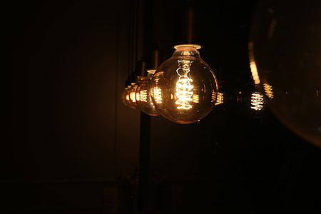 yellow light lamp