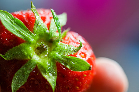 Colorful Strawberry Close Up