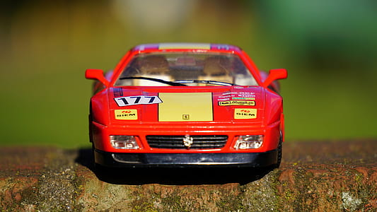 Toy Red Yellow Racecar