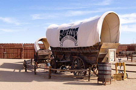 photo of brown and white Bawaide carriage