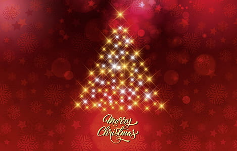 Merry Christmas digital wallpaper