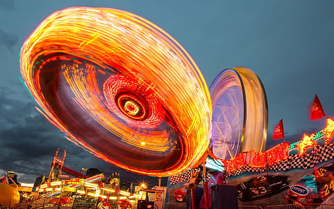 timelapse photography of a carnival ride
